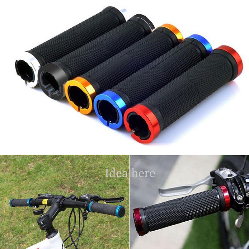1 Pair Double Lock On Locking Mountain Bike Bicycle Cycling Handle Bar Grips