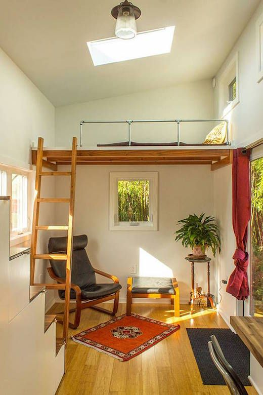 Tiny Home That Seems Surprisingly Spacious Tiny House Living Modern Tiny House Small Room Design