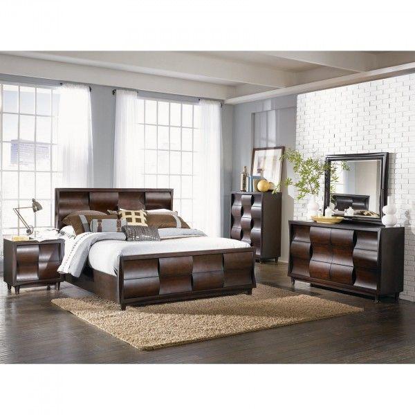 The Wave Bedroom - Bed, Dresser & Mirror - Queen (B1794)   Conn\'s ...
