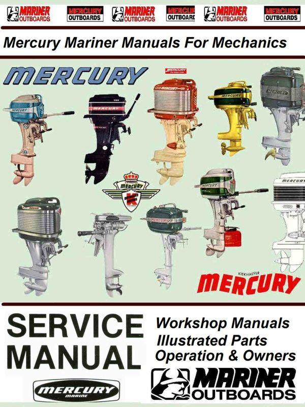 Mercury Mariner Vintage Service Manuals For Mechanics In 2020 Mercury Marine Boat Restoration Marines