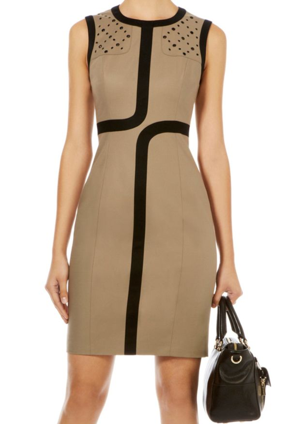 Apricot Sleeveless Hollow Slim Split Bodycon Dress $58.5 ...