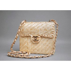 Chanel Authentic Vintage Straw Wicker Mini Flap Bag Malleries