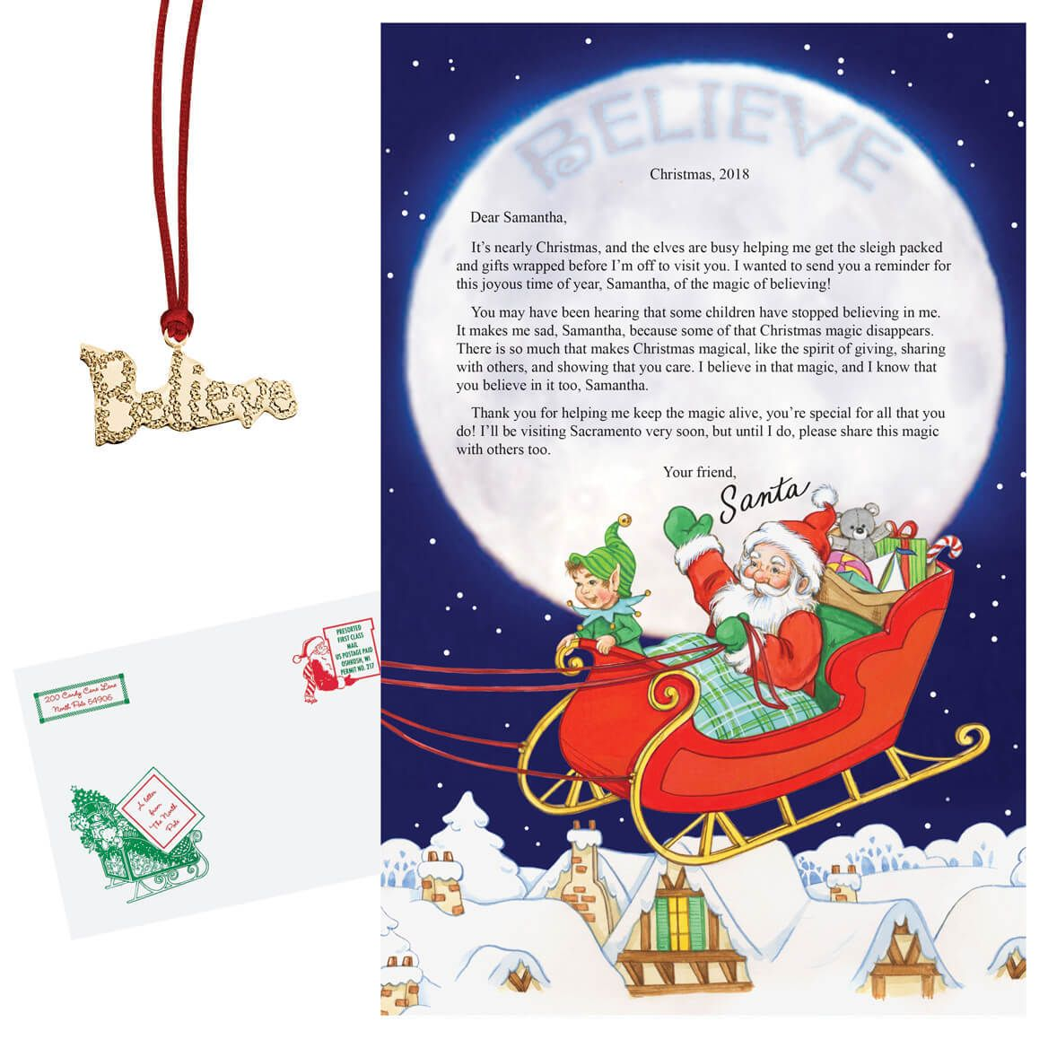 Personalized Letter From Santa To Child Santa letter