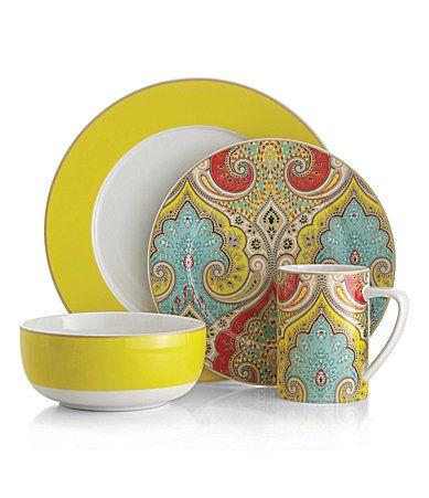 Echo Design Latika Yellow Dinnerware - Dillards