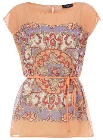 0943af19250 Scarf print shirt. Dress up or down.
