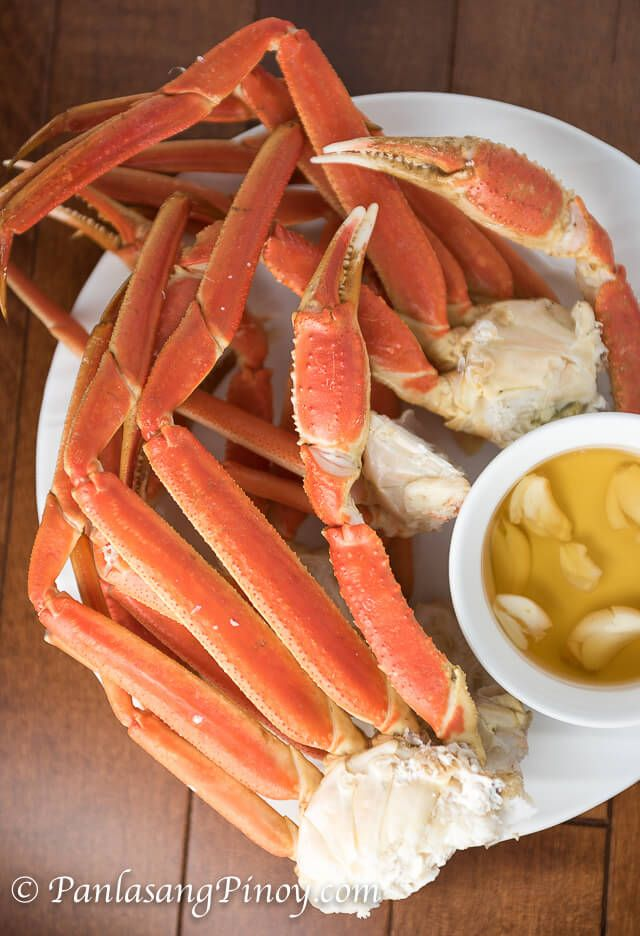 Steamed Snow Crab Legs