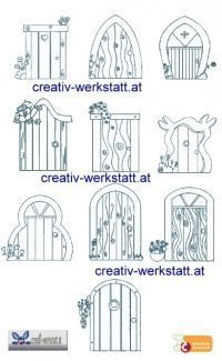 The fantastical realm fairies faeries fays fairy for Fairy door pattern