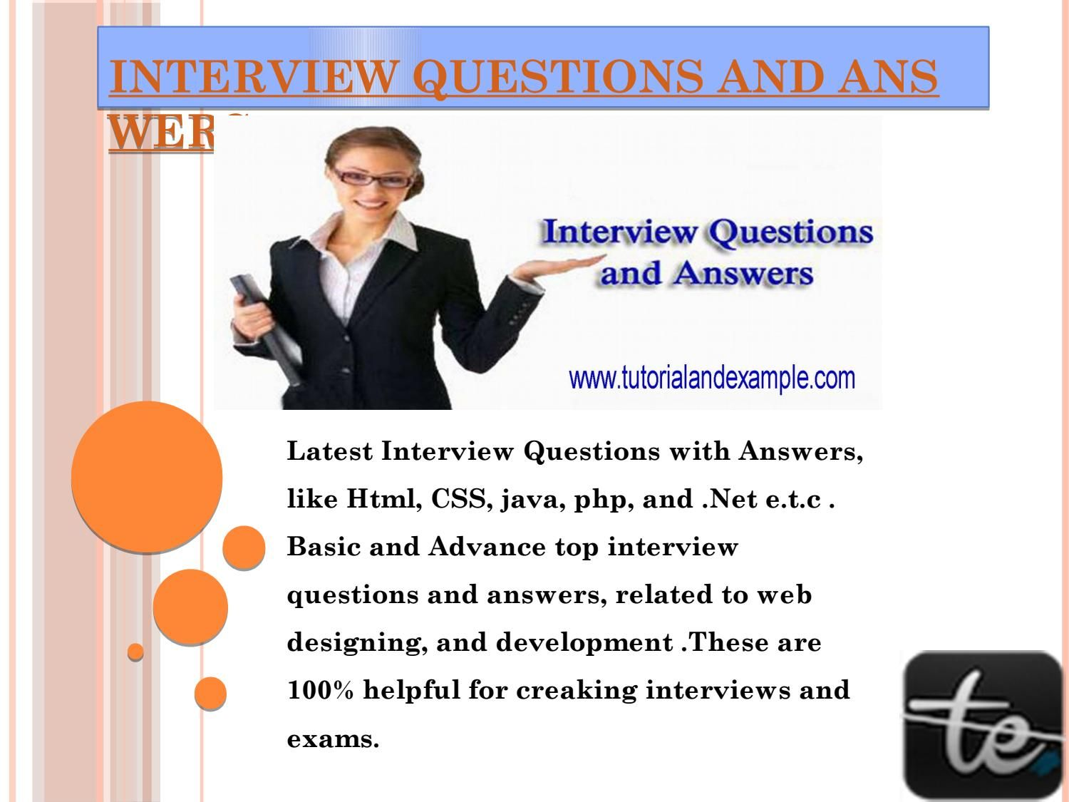 Interview Questions And Answers Top Interview Questions Interview Questions And Answers Interview Questions Top Interview Questions