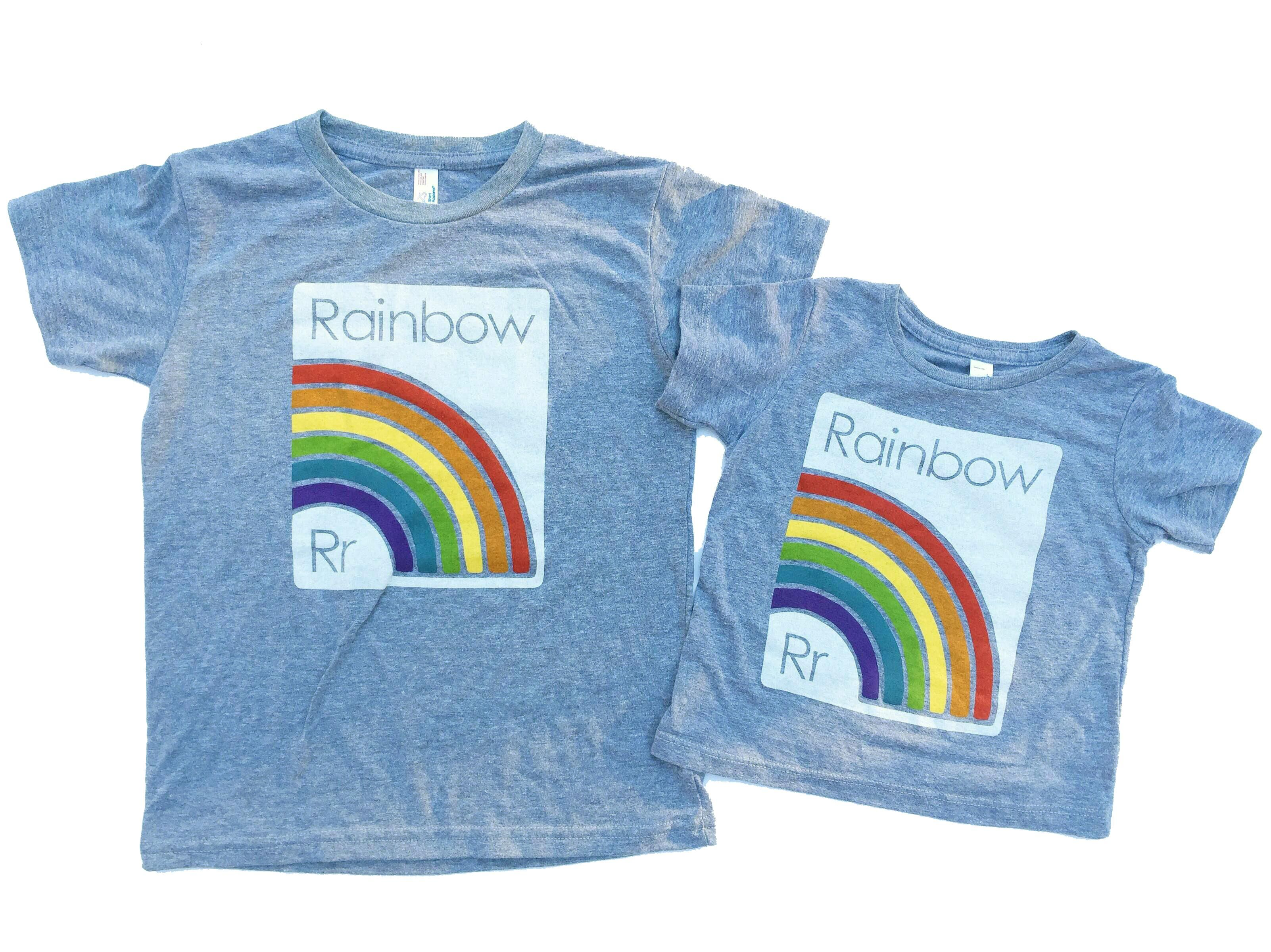 PRE-ORDER Grey s/s tee - R is for Rainbow Retro Baby Clothes ...