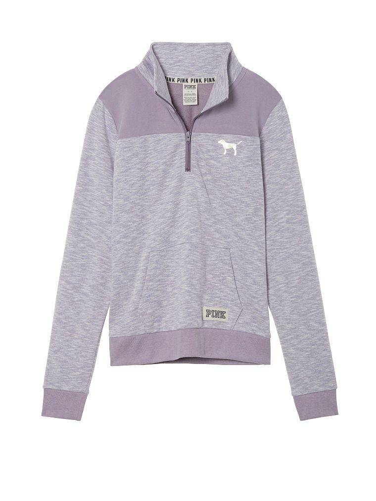 e52e9e9360318 11))Pink perfect Quarter- Zip Pullover color: Frosty Purple size: xs ...
