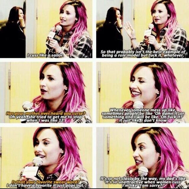 Demi Lovato Funny Moments Don T Mind The Cuss Words Even Though That Is What It S About Who Cares Demi Lovato Quotes Demi Lovato Lovato