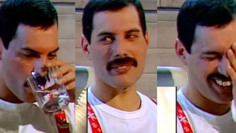 Freddie Mercury Reacts To Kanye West Trying To Sing Bohemian Rhapsody Freddie Mercury Queen Freddie Mercury Kanye West