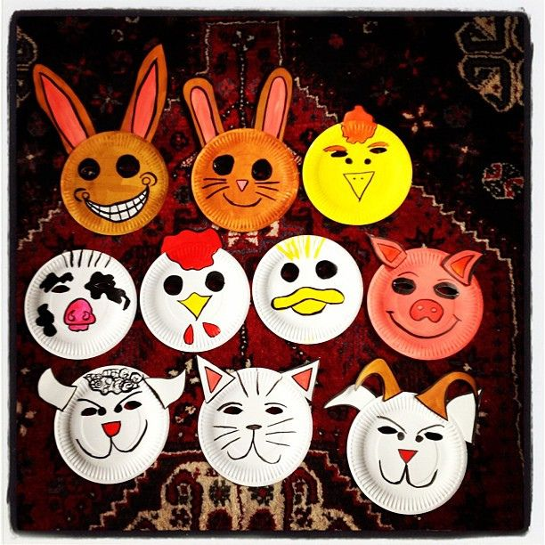 #farm #animal #kids #face #mask #paper #plate #craft #