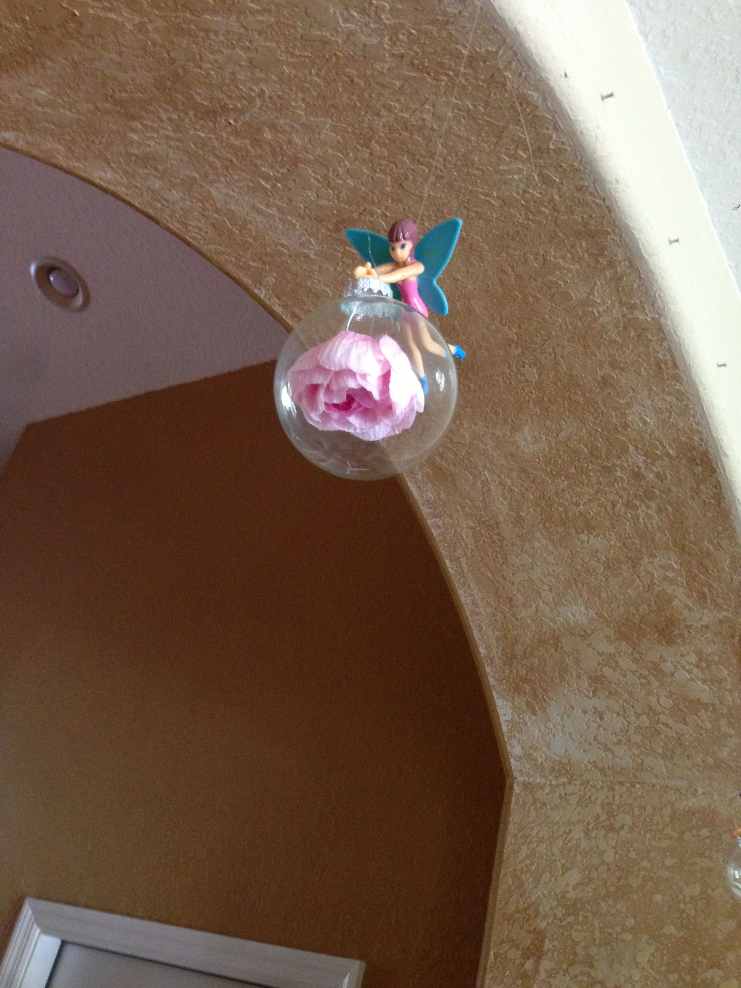 Christmas ornament. Fairy. Flower bubble. (With images
