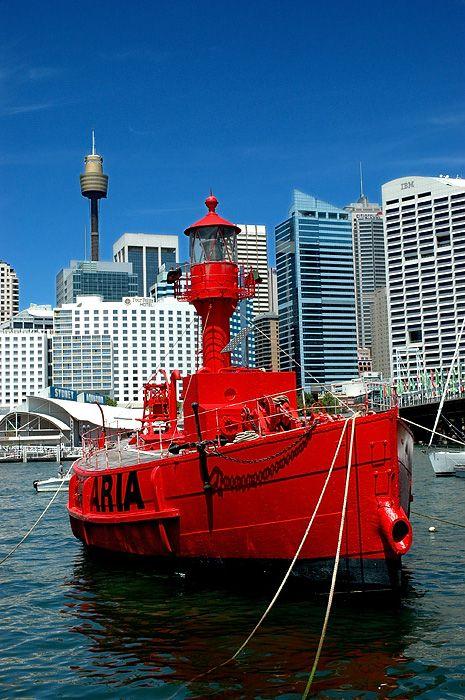 Carpentaria Lightship, Lightship at National Maritime Museum., Darling ...