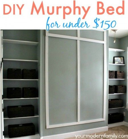 Diy murphy bed your modern family diy your furniture pinterest this diy wall bed is the perfect queen murphy bed these murphy bed plans are easy can be done over a weekend shows you exactly how to build a murphy bed solutioingenieria Choice Image