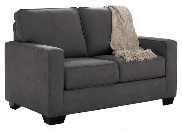 Recliner Sofa Ashley Zeb Twin Size Pull Out Sofa Sleeper with Memory Foam Mattress Track Arms and Loose Seat Cushions in