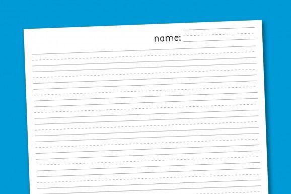 free first grade writing paper - Edumac