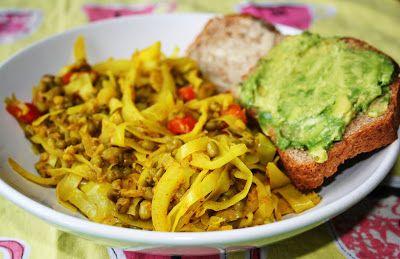 Mitt Gröna Kök: Kryddig vitkål med mungbönor