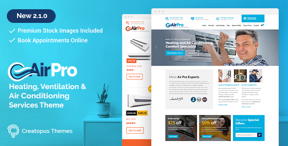 Airpro V2 1 0 Heating And Air Conditioning Wordpress Theme For