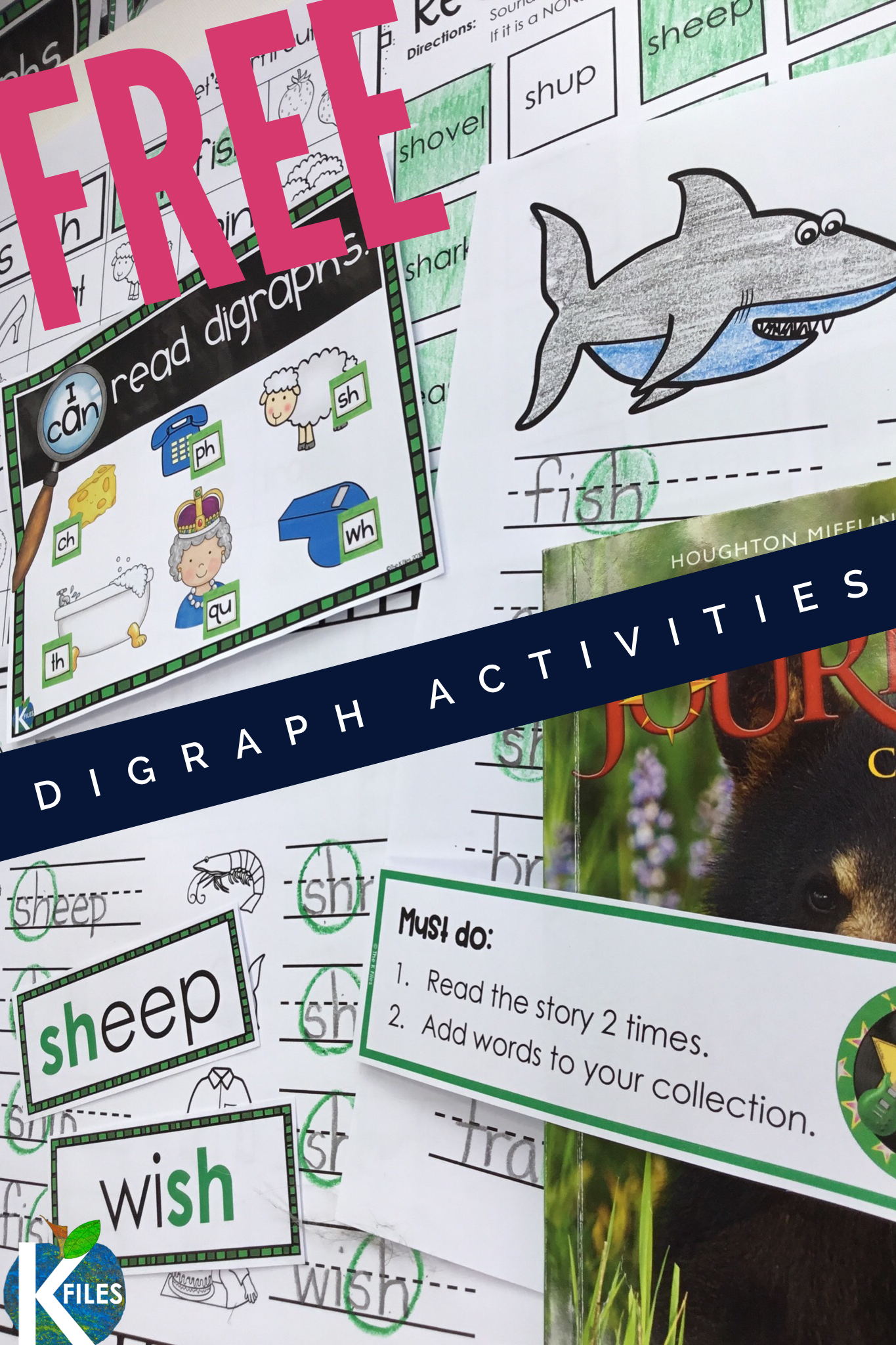 Digraph Sh Freebie Activities And Worksheets