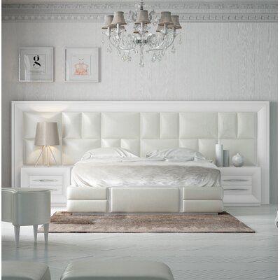 Hispania Home London Bedor114 Bedroom Wood Upholstered Upholstered Faux Leather In Matte Size Queen Wayfa In 2021 Bedroom Set Bed Headboard Design Bedroom Design