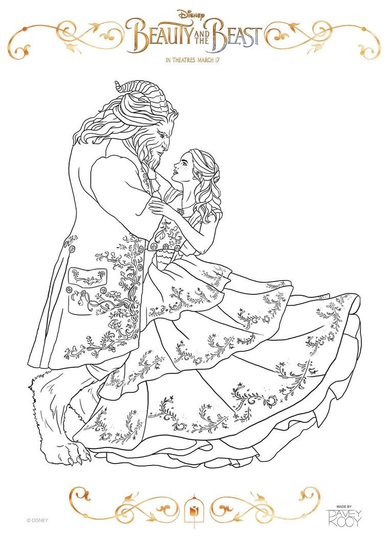 Pagina De Colorir Beleza E Beleza Por Dvythmsky Disney Coloring