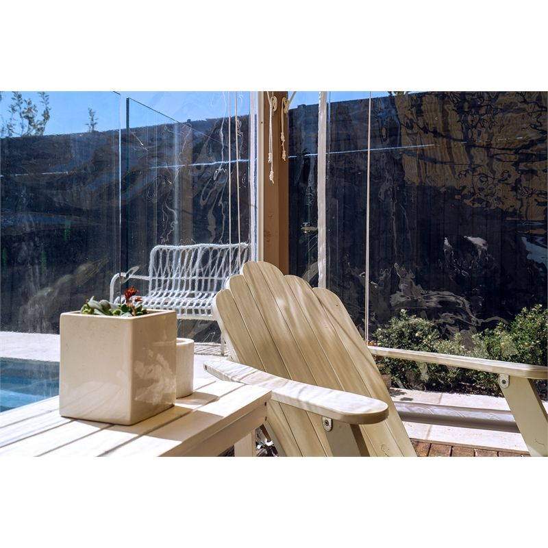 Bistro Blinds 0 75mm Pvc Outdoor Blind 2400mm X 2400mm Clear