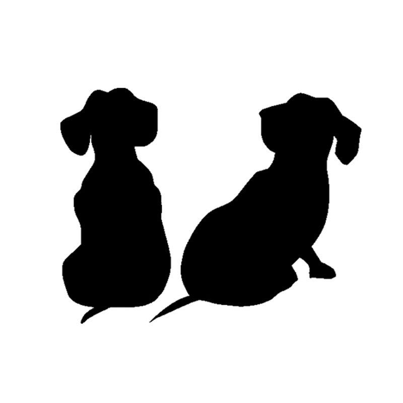 DACHSHUND HEART Vinyl Decal Sticker Car Window Wall Bumper Cute Wiener Dog Love