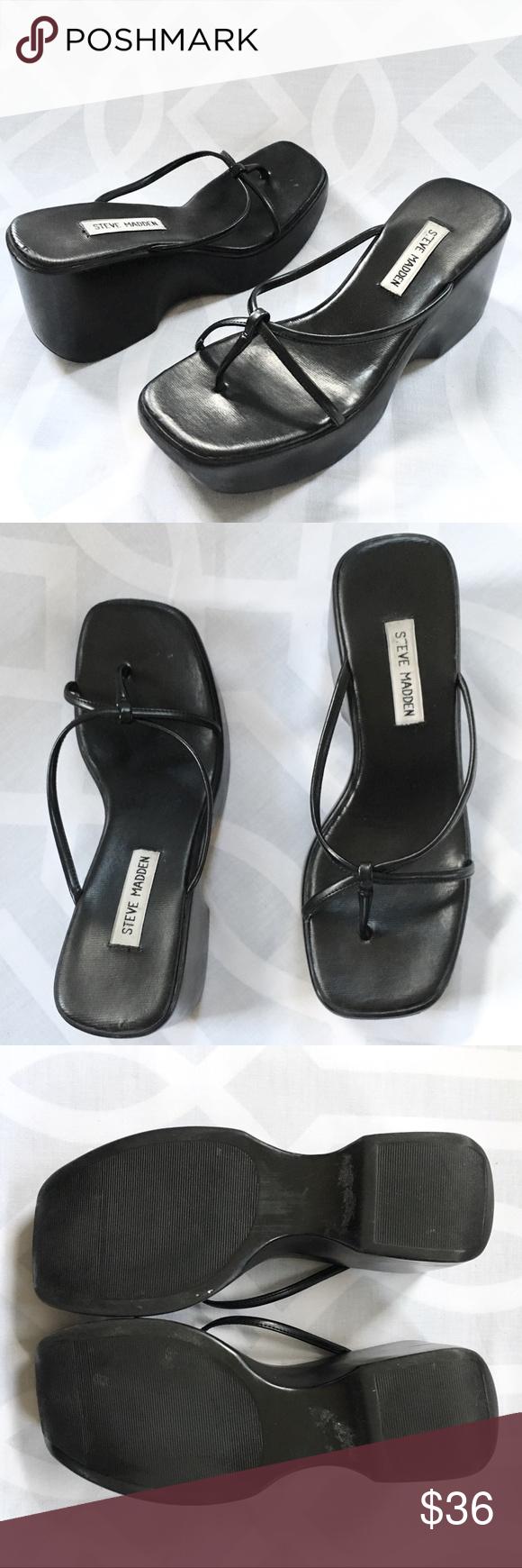 166708be4f9  RARE  STEVE MADDEN 90s Platform Sandal  VTG  Rare Vintage STEVE MADDEN 90s