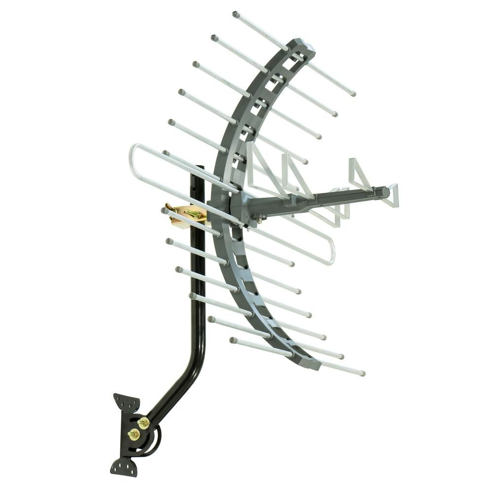 GE Pro Outdoor/Attic Mount TV Antenna, 70-Mile Range with
