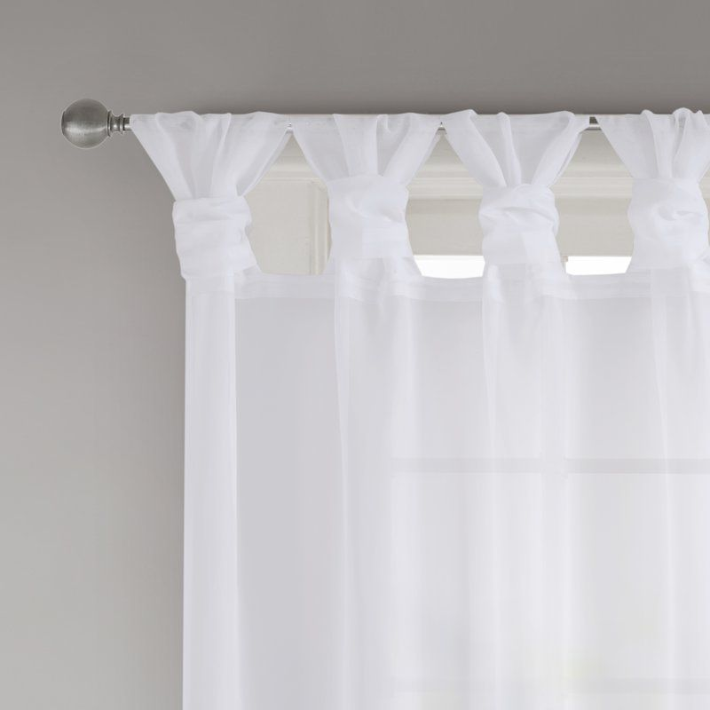 Kater Twisted Voile Solid Sheer Tab Top Curtain Panels Reviews