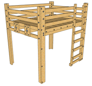 Queen Loft Bed Plans Diy This Loft Bed Is A Sturdy