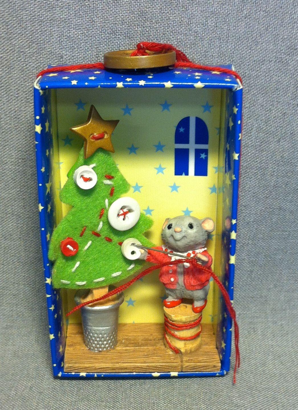 "Hallmark Keepsake Ornament ""Make A Little Merry"" mouse"