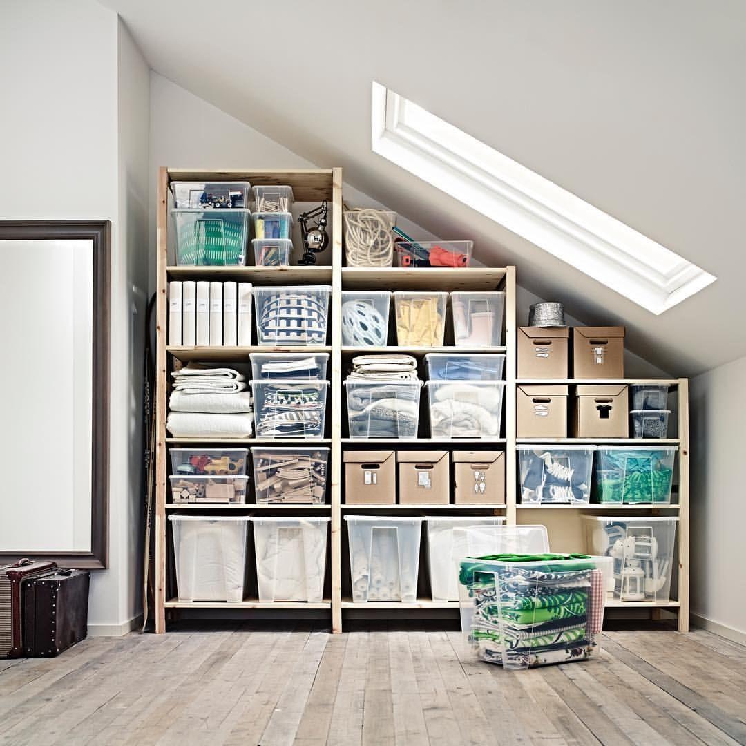 25 Gilla Markeringar 2 Kommentarer Ikea Uppsala Ikeauppsala Pa Instagram Samla Smart Fa Plats Med Allt Du Vi In 2020 Shelves Attic Storage Solutions Ikea Ivar