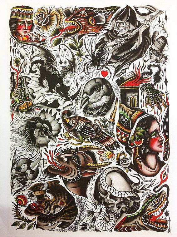James+McKenna+ Traditional tattoo design, Traditional