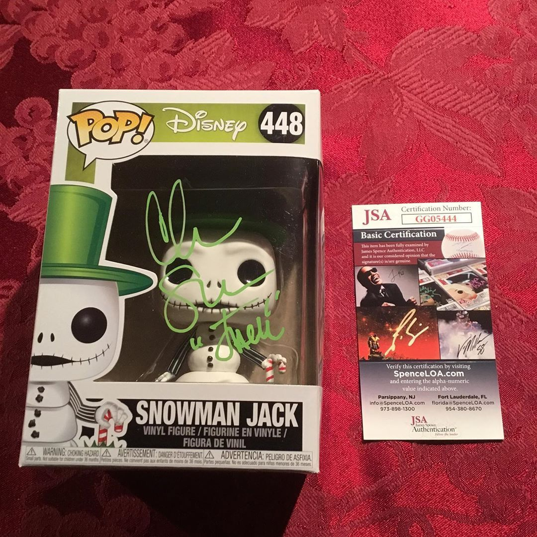 Funko Pop Jack Skellington was Signed By the voice of Jack