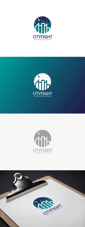 Night City Logo Template AI, EPS