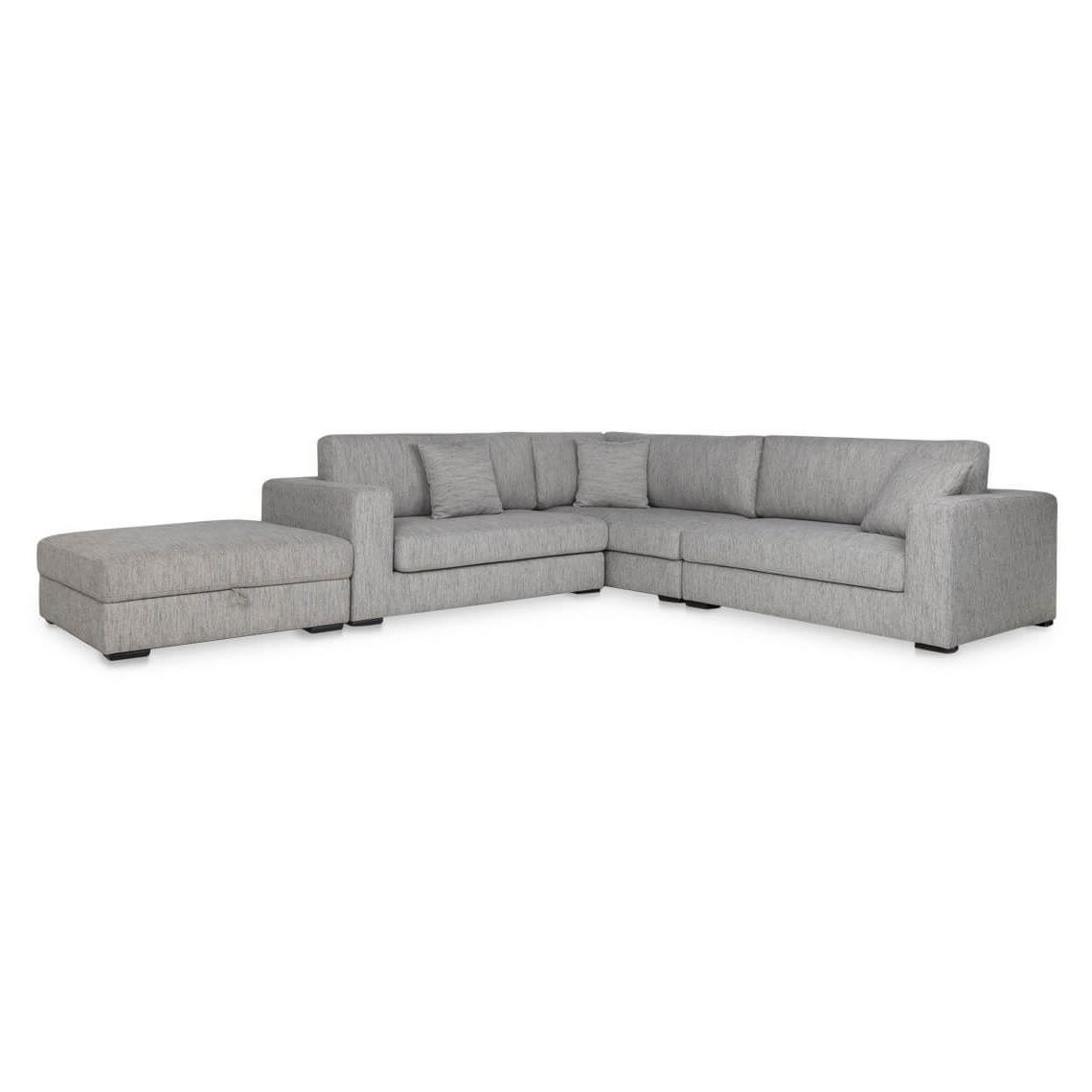 Aspect 6 Seat Fabric Modular Sofa With Left Mod Storage
