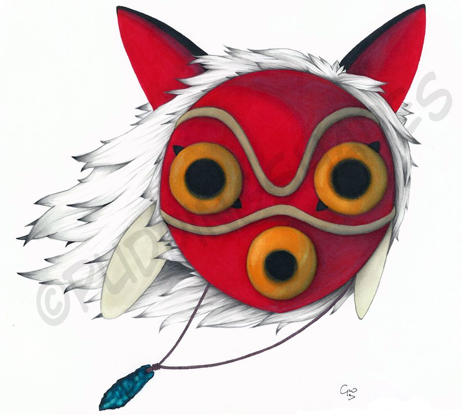 Deviantart More Like Princess Mononoke S Mask By Puddingshades