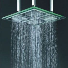 Contemporary 18 Inch Led Rainfall Glass Shower Head T322 Avec
