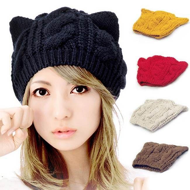 gorro orejas de gato | crochet | Pinterest | Gato, Gorro tejido y Gorros