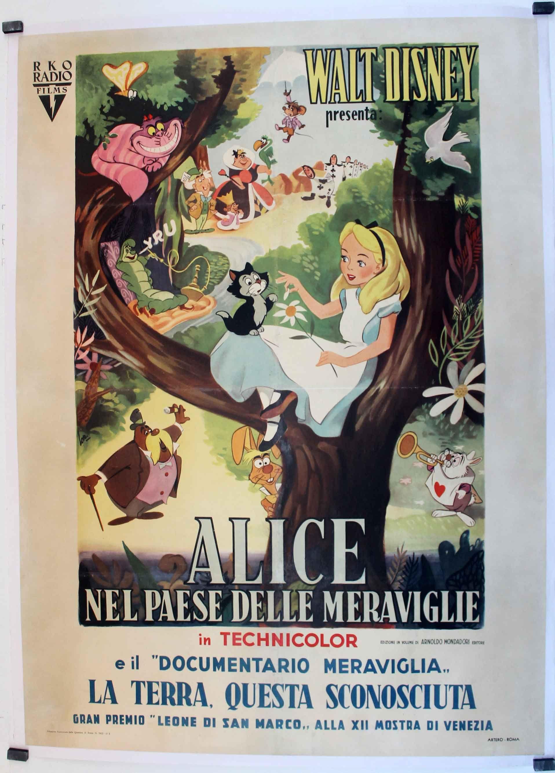 Alice Nel Paese Delle Meraviglie Movie Poster Alice In Wonderland Movi Posteres De Disney De Epoca Carteles De Disney Alicia En El Pais De Las Maravillas