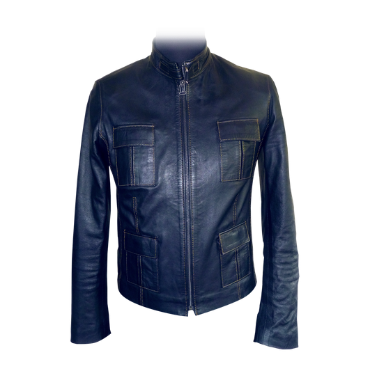 The Meknés Classic Stylish jacket made from the finest Moroccan lambskin leather. Timeless style, hand-crafted to your exact requirement. Available in a large choice of leather colors, seam colors, linings and pocket options.