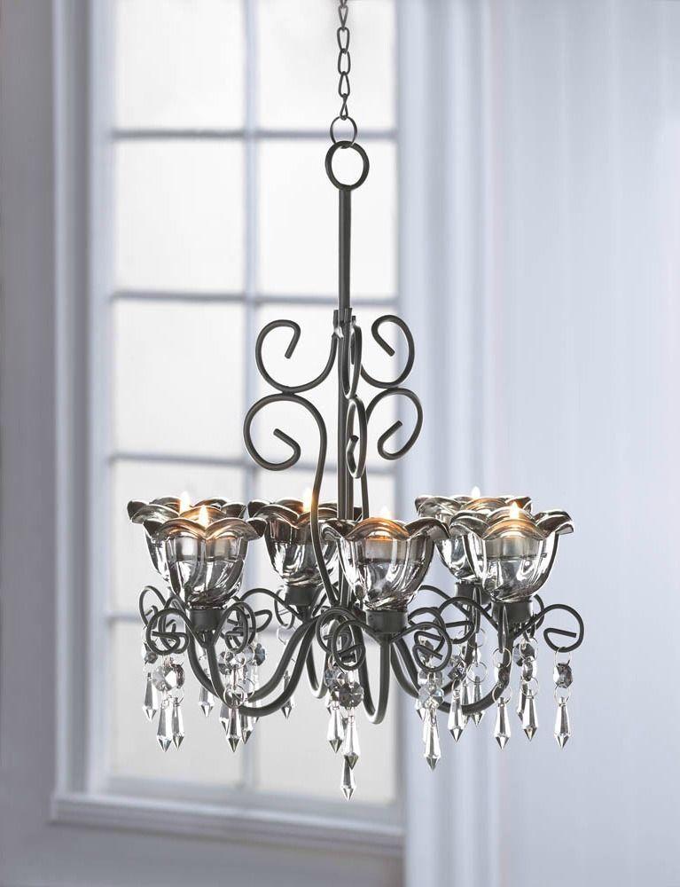 Candle chandelier beaded hanging candle holder hanging vintage style candle chandelier beaded hanging candle holder hanging vintage style tea light mbc aloadofball Choice Image