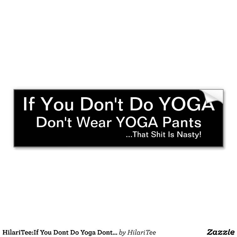 Funny Yoga Bumper Stickers