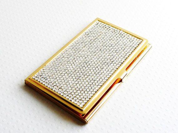Vintage judith leiber business card holder swarovski crystals fancy vintage judith leiber business card holder swarovski by auntemilie 37500 colourmoves