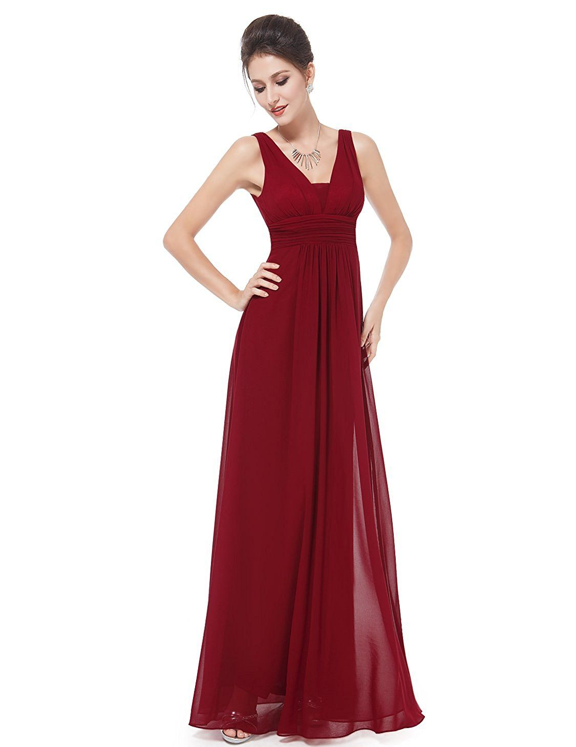 Ever Pretty Double V-Neck Ruched Waist Ladies Long Evening Dress 08110 at  Amazon Women s Clothing store  5dcf230ba