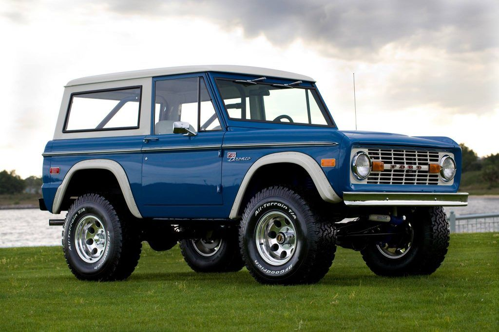 Restored 1974 Brittany Blue Early Bronco | Velocity Restorations