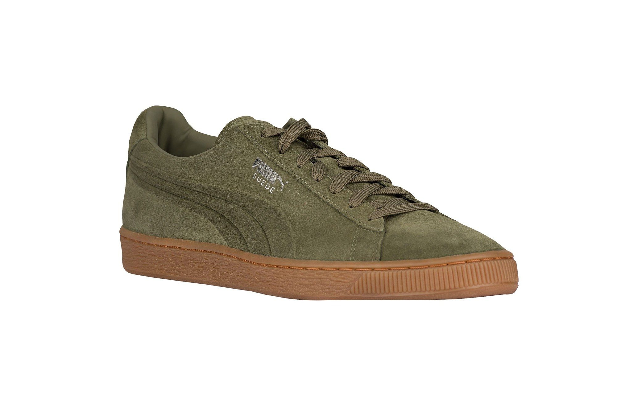 Suede shoes men, Olive sneakers, Puma suede